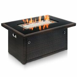 Outland Living Series 401 Brown 44-Inch Outdoor Propane Gas Fire Pit Table Black