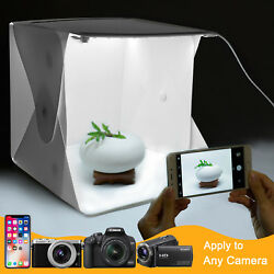 Photo Box Portable Light Room Photography Lighting LED Mini Cube Box Backdrop $13.95