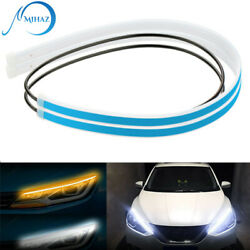 2 x 60CM LED DRL Light Amber Sequential Flexible Turn Signal Strip $10.22