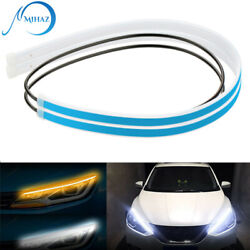 2 x 60CM LED DRL Light Amber Sequential Flexible Turn Signal Strip for Headlight $10.22