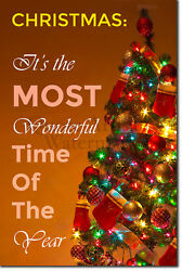Christmas Celebration Poster 01 quot;The most wonderful…quot; Print Xmas Gift Art $57.23