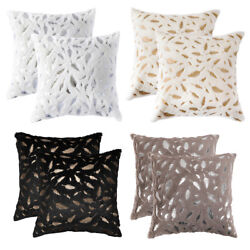 2Pcs Fluffy Faux Fur Soft Throw Pillow Case Sofa Couch Bed Waist Cushion Covers  $10.98