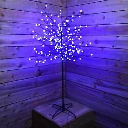 Icy Blue LED Berry Twig Tree Ball Lights Large 5ft Christmas Decoration Winter
