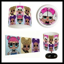 LOL SURPRISE DOLLS 384 Girls Bedroom Lampshade Lamp Clock amp; Pictures GBP 22.99