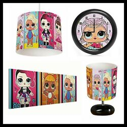 LOL SURPRISE DOLLS 385 Girls Bedroom Lampshade Lamp Clock amp; Pictures GBP 22.99