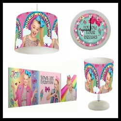 JOJO SIWA 127 Girls Bedroom Lampshade Lamp Clock amp; Pictures GBP 26.99