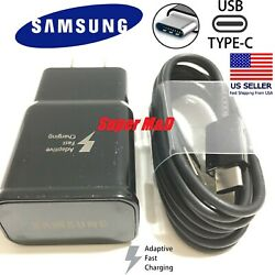 New Genuine Samsung Galaxy S9 S8plus Note 8 Fast OEM Wall Charger+Type C -CABLE