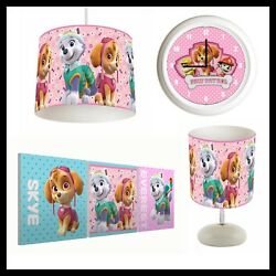 PAW PATROL 001 Girls Bedroom Lampshade Lamp Clock amp; Pictures GBP 74.99