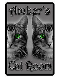 Personalized Cat Sign Printed with YOUR NAME..Custom Signs Made for YOU CAT #185 $13.95