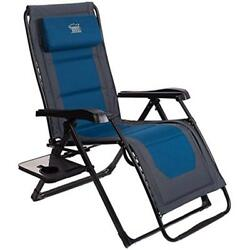Zero Gravity Recliner Oversized XL Lounge Patio Chair Adjustable Padded Supports