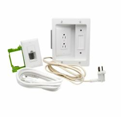 Legrand On Q 16314 HT2202WHV1 In Wall TV Power amp; Cable Management Kit Hides.. $39.95