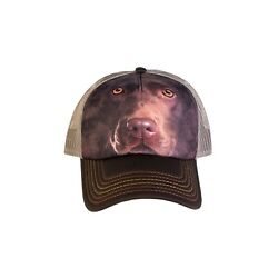 The Mountain Adjustable Brown Dog Foam Trucker Cap Chocolate Lab Face $14.99