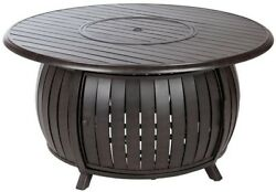 Fire Pit 47 in. x 22 in. Round Stainless Steel Burner Aluminum Construction