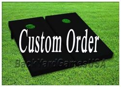 Custom order VINYL WRAPS Cornhole Boards DECALS Bag Toss Game Stickers