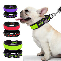 Reflective Soft Nylon Dog Collar Small to Large Dog Wide Collar Red for Labrador $7.99