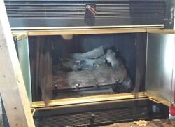 Majestic Gas Fireplace (+ pipes chimney ceramic logs grate & more)