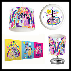 MY LITTLE PONY 495 Girls Bedroom Lampshade Lamp Clock amp; Pictures GBP 22.99