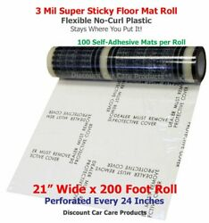 "Sticky Floor Mats 21"" Wide x 200' Roll 24"" Perforated Adhesive Floor Mats 3mil $48.95"