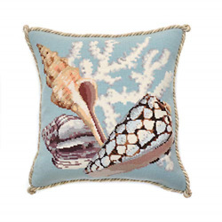 Staghorn Needlepoint Tapestry Kit with Duck Egg Blue background from Elizabeth