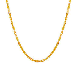 Women 18K Gold Plated Singpore Twist Chain Necklace Jewelry