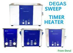 CE RoHS Degas Sweep Timer Heater Dental Lab Jewelry Glass PCB Ultrasonic Cleaner