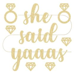 She Said Yaaas Bachelorette Party Decorations Banner Pre Strung Bride Banners