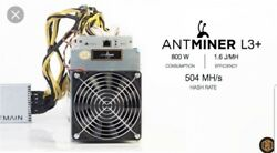 Antminer L3 Miner Litecoin ASIC Scrypt 504MH s PSU FREE USA SHIPPING $650.00