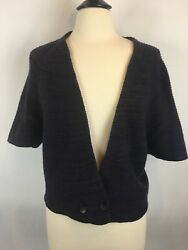 Nordstrom Collection Women's Sweater Cardigan Short Sleeve Knit 100% Cashmere M