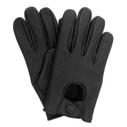 MEN#x27;S CHAUFFEUR REAL LAMB SHEEP NAPPA LEATHER DRIVING GLOVES VENTED BLACK $18.00