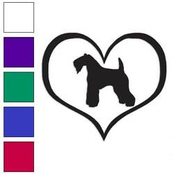 Kerry Blue Terrier Dog Heart Decal Sticker Choose Color + Size #1477