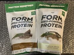 Rain Form Seed-Powered Protein - Chocolate or Vanilla Flavor 20g Per Serving