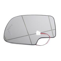 Heated LED Turn Signal Driver Side View Mirror Glass For 03-07 Chevy GMC LH