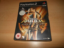 Lara Croft Tomb Raider Anniversary Collectors Edition PS2 NEW AND SEALED pal