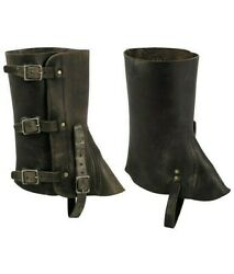Swiss military Leather Gaiters Harley Boots Snakes Hunting Hiking $34.97