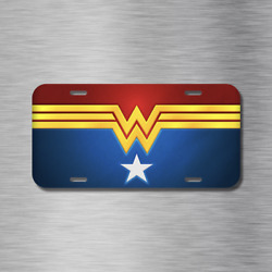 Wonder Women Superhero She Female Comic  Vehicle License Plate Auto Car Tag NEW