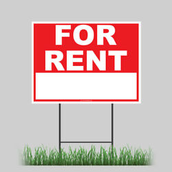 Large Outdoor 24quot;x18quot; Home For Rent Yard Sign With Ground Stake $15.95