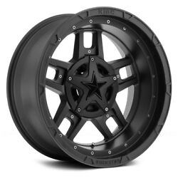 XD Series XD827 ROCKSTAR 3 Wheels 18x9 (0 5x127 72.6) Black Rims Set of 4