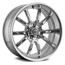 Ridler 650 Wheels 18x9.5 (0 5x114.3 83.82) Chrome Rims Set of 4