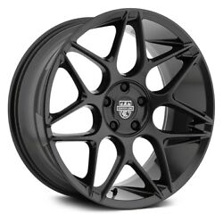 Center Line SM-2 Wheels 20x9 (18 5x120.65 74.1) Black Rims Set of 4
