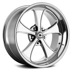 Ridler 645 Wheels 18x9.5 (0 5x114.3 83.82) Chrome Rims Set of 4