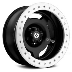 ATX Series AX756 SLAB Wheels 18x9 (-38 5x114.3 72.6) Black Rims Set of 4
