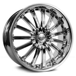 RTX Elite Wheels 17x7.5 (42 5x114.3 73.1) Chrome Rims Set of 4