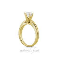 3.24 Carat II1Ideal Round AGI Certify Diamond Yellow Gold Cathedral Ring 4.6mm