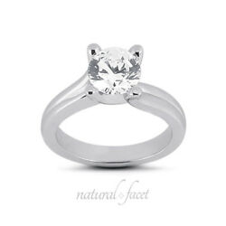 1.54ct FI1Ideal Round AGI Certified Diamond White Gold Modern Style Ring 3.8mm