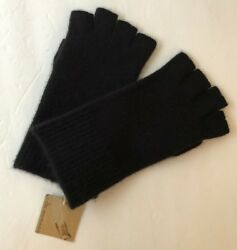 Club Monaco Fingerless Gloves Cashmere Blend Black One Size New with Tags $89.50