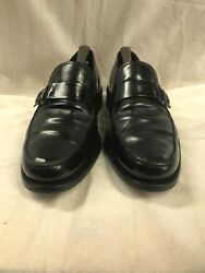 Tod#x27;s Monk Strap Italian Dress Loafers Black Leather Tod#x27;s 8 $52.80