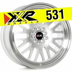 XXR 531 17X8 5X100 5X114.3 +35 HYPER SILVER WHEELS (SET OF 4)