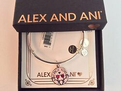 Alex and Ani I Pick You Bangle Bracelet Shiny Silver New Tag Box Card 2019