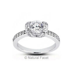 2.33ct tw GSI1Very Good Round Certified Diamonds White Gold Classic Ring 2.5mm