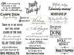 34 Motivational Wall Decals Inspirational Quotes Art Decor Stickers